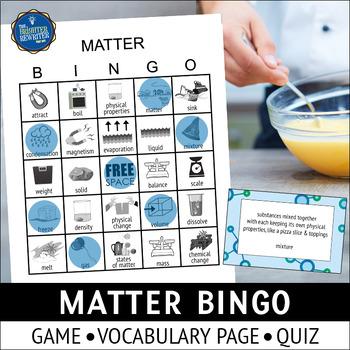 Matter Vocabulary Bingo