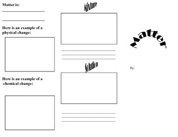 Matter Brochure Template for Student Assessment