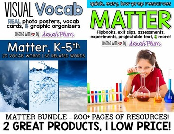Matter Bundle - Quick, Easy, Low-Prep Resources & Vocabulary Pack