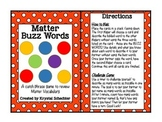 Matter Buzz Words Game