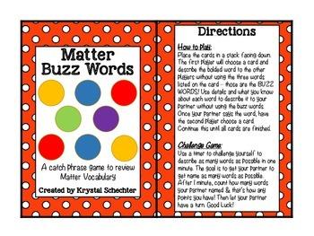Matter Buzz Words Game