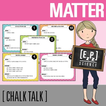 Matter Chalk Talk Task Cards