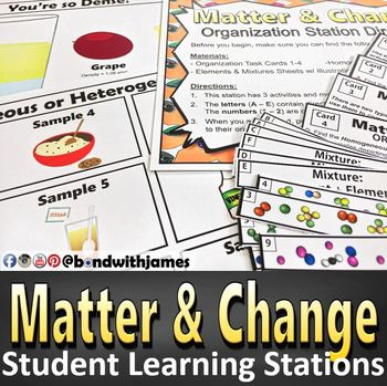 Matter & Change Student Learning Stations