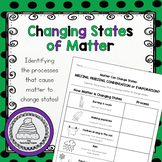 Matter Changes States Worksheet