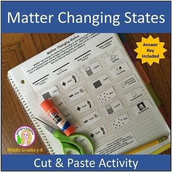 Matter Changing States (cut & paste) Activity