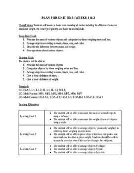 Matter Chatter: Common Core Science for First Graders (50+ Pages)