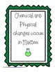 Matter Chemical and Physical Changes