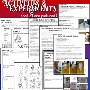 Matter - Chemistry Activities with States of Matter and More
