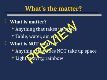 Matter: Classification of Matter Notes
