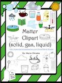 Matter Clip Art (solid, gas, liquid)