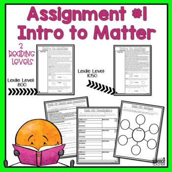 Matter Close Reading Passages