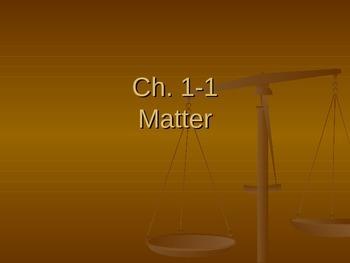 Matter Cloze