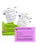 Matter Cloze Notes and PowerPoint