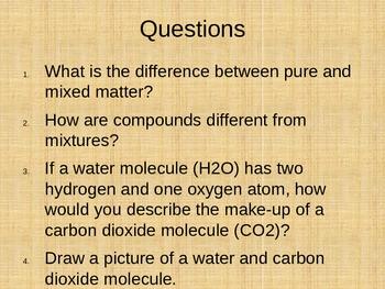 Matter Combines to Form Substances