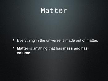 Matter: Common Core Powerpoint