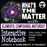 Matter, Elements Compounds Mixtures Interactive Notebook
