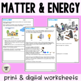 Matter & Energy - Guided Practice - Print & Google Versions