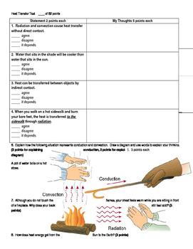Matter, Energy, Heat Transfer Assessment