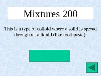 Matter & Energy Jeopardy with Interactive Scoreboard Acids Bases Mixtures Energy