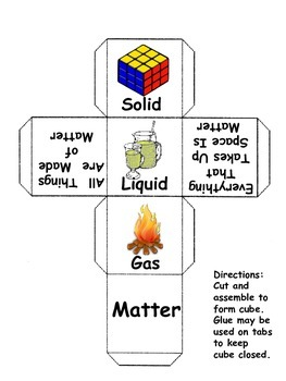 Matter, Energy, Seasons and Weather Cubes