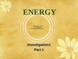 Matter & Energy - Third Grade Science - FOSS - Investigation1