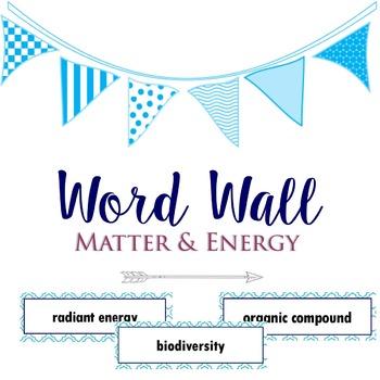 Matter & Energy Word Wall