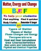 Matter, Energy and Changes 8-Product Bundle: HS Chemistry Notes, Worksheets..etc