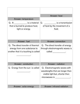 Matter, Energy and Heat  BOARD GAME