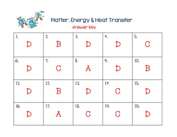 Matter, Energy, and Heat Transfer Review Task Cards - 5.P.2 & 5.P.3