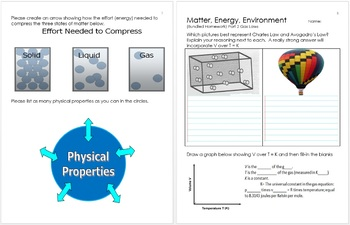 Matter, Energy, and the Environment Unit Homework