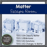 Matter Escape Room--Paper and Digital Escape Room--Classifying Matter, Mixtures