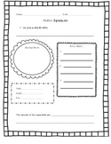 Life Science Chemistry Matter Experiment Template Common Core