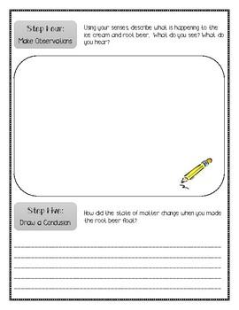 Matter Experiment Using the Scientific Method