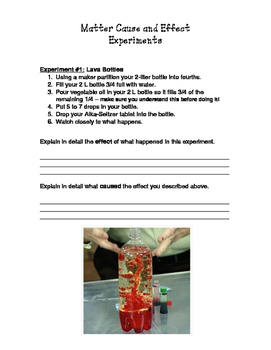 Matter Experiments: Cause and Effect