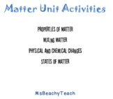 Matter: Experiments and Activities