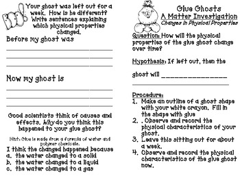 Matter Experiments and Resources Excellent for Halloween!