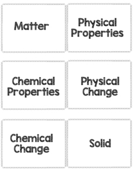 Matter Flash Cards Activity