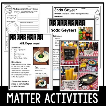 Matter Flip Book, Interactive Journaling, and Graphic Organizers