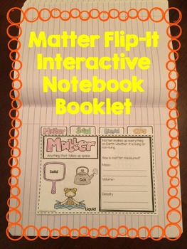 Matter Flip-It Interactive Notebook