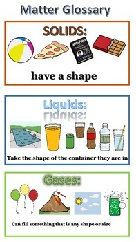 Matter Glossary