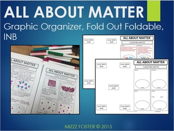 Matter: Graphic Organizer, Fold-Out Foldable, Interactive Notebook