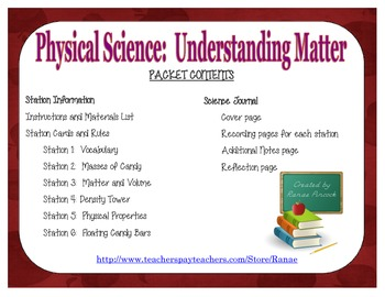 Matter:  Hands-On Science Activity Stations and Notebook