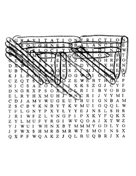 Matter in Motion Wordsearch Puzzle with Key