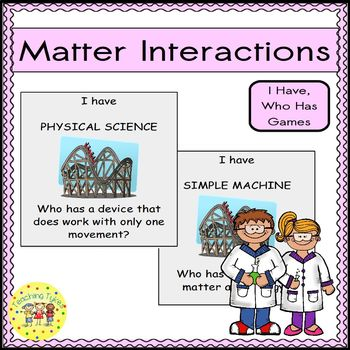 Matter Interactions I Have, Who Has Games