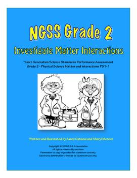 NGSS Grade 2 Investigate Matter Interactions Performance Assessment