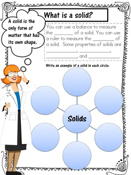 Matter Interactive Journal--Solids, Liquids, and Gases