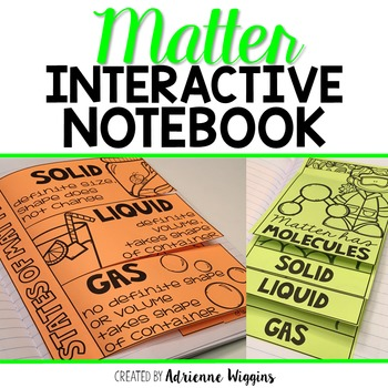 Matter Interactive Notebook
