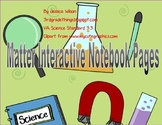Matter Interactive Notebook Pages