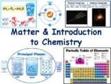 Matter, Intro to Chemistry Lesson Flashcards-task cards, study guide, exam prep