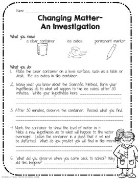 Matter Investigations Freebie